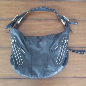 Black B. Makowsky leather purse handbag